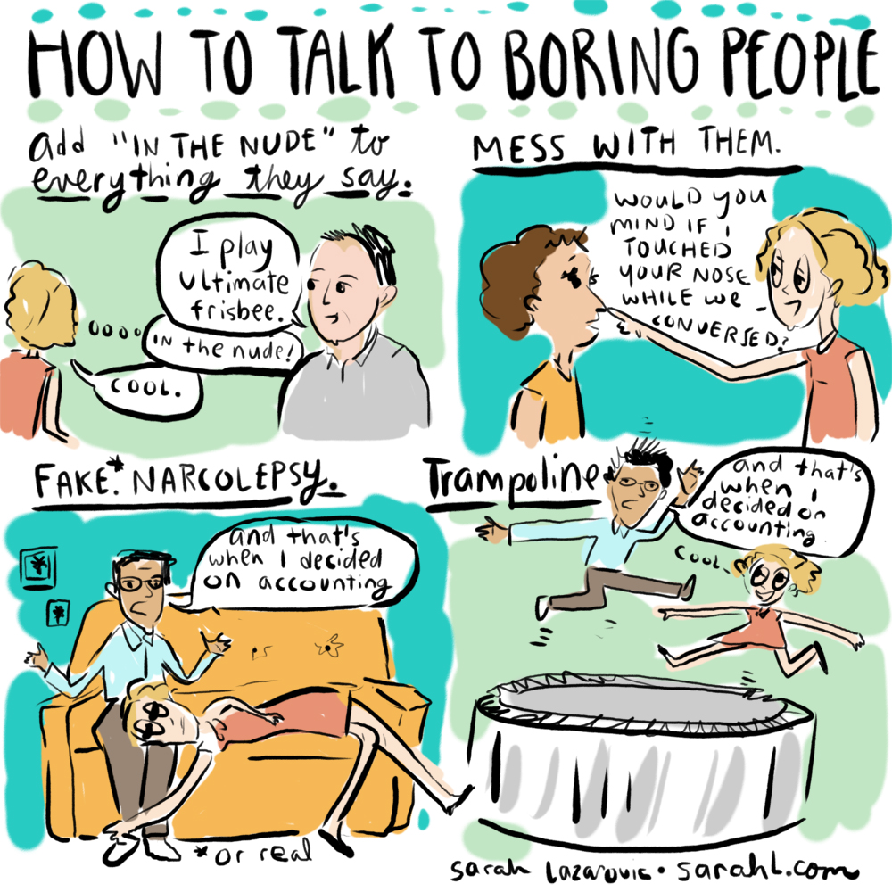 how to talk to boring people