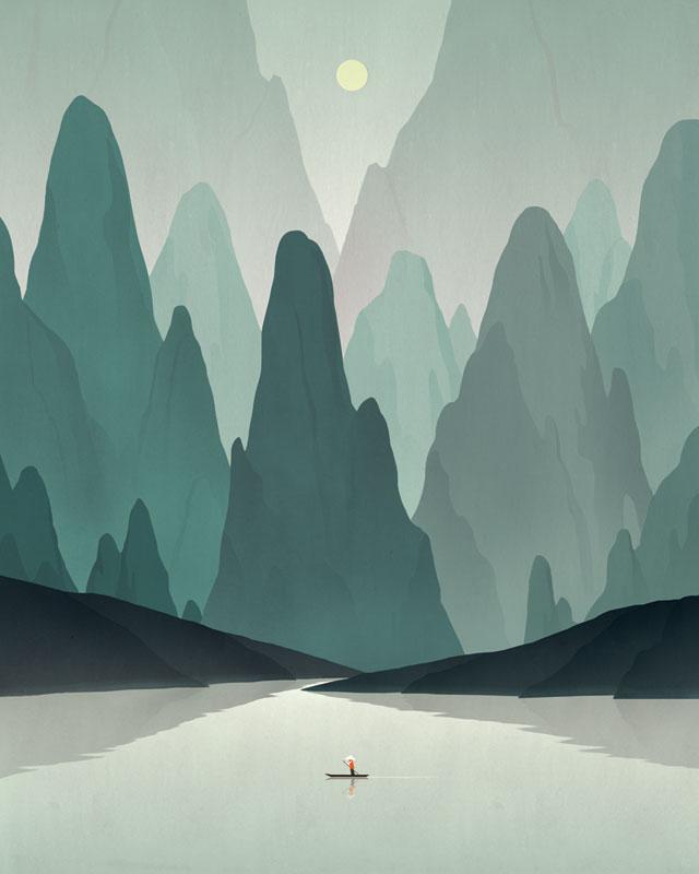 dadu shin Chinese Landscape 2-1